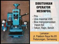 28259 small dibutuhkan operator mesin foil