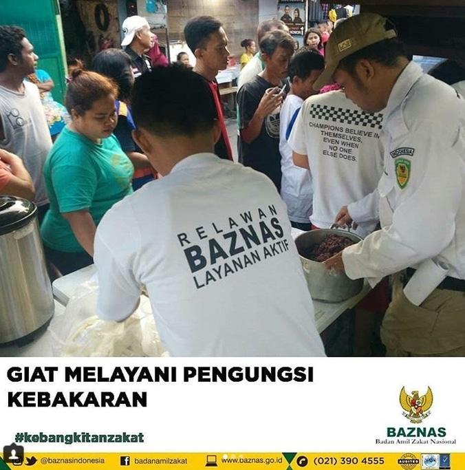 28272 medium layanan aktif baznas menemani korban pengungsi kebakaran menteng  jakpus