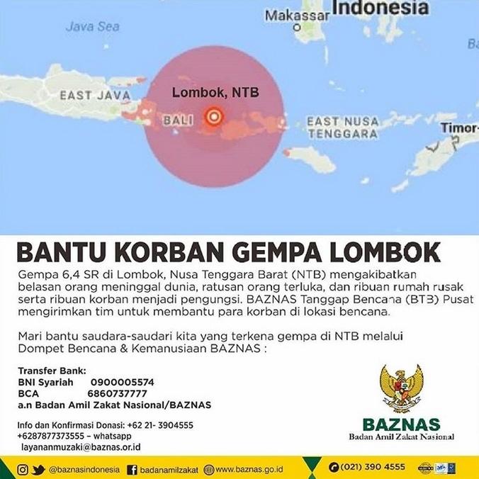29136 medium bantu korban gempa lombok