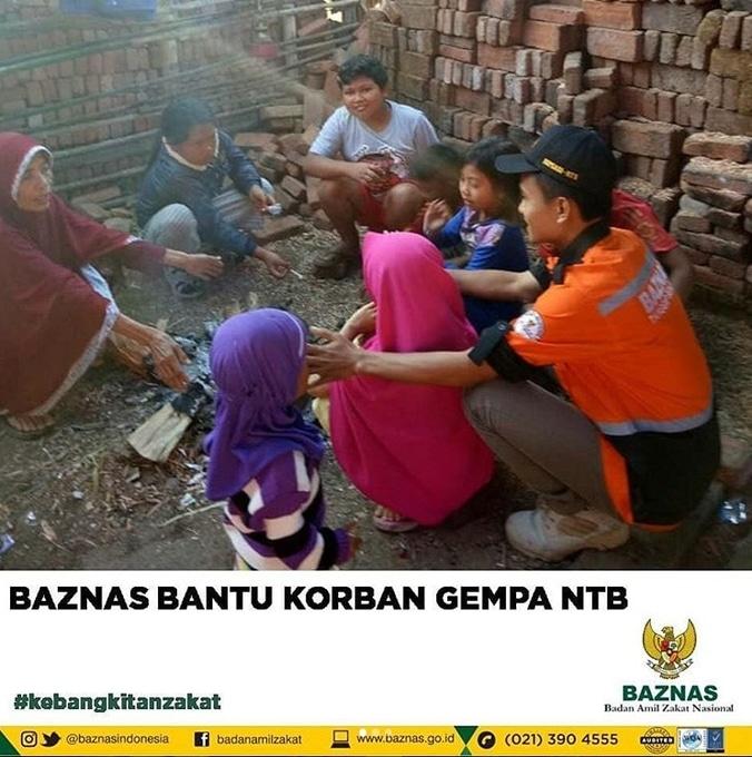 29220 medium baznas bantu korban gempa ntb