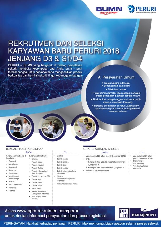 29221 medium lowongan kerja bumn   perum peruri %28perusahaan umum percetakan uang republik indonesia%29 untuk d3 dan s1