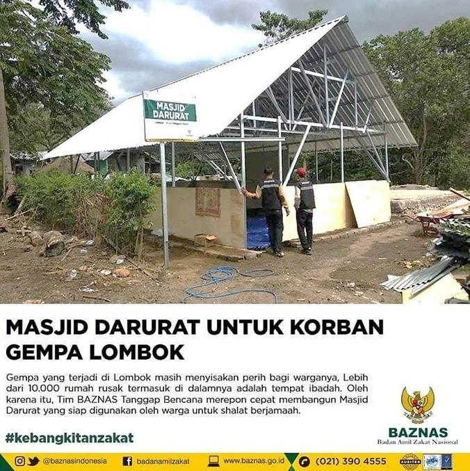 29782 medium masjid darurat untuk korban gempa lombok