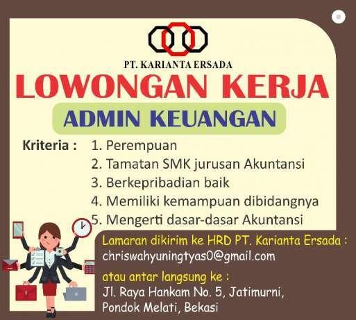 Lowongan Kerja Administrasi Keuangan Widya Sari Di Bekasi Kota 9 Aug 2018 Loker Atmago Warga Bantu Warga