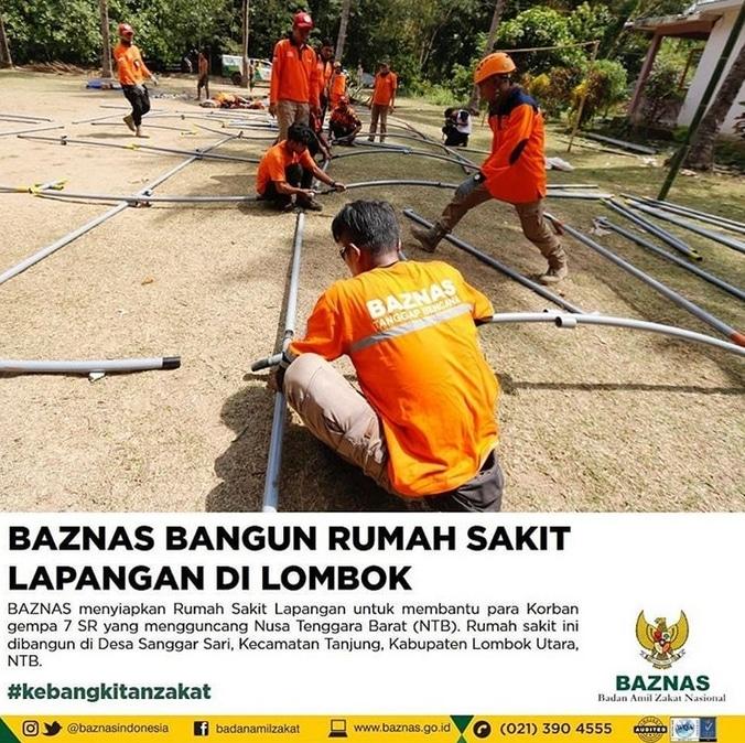 29862 medium bantu korban gempa lombok  baznas siapkan rumah sakit lapangan