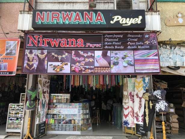 30026 medium toko nirwana payet bambu kuning