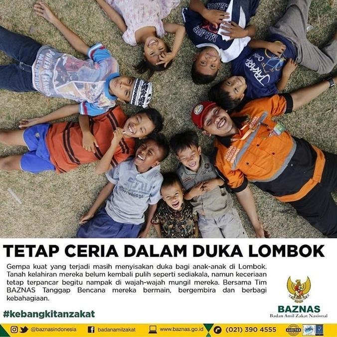 30350 medium tetap ceria dalam duka gempa lombok bersama baznas