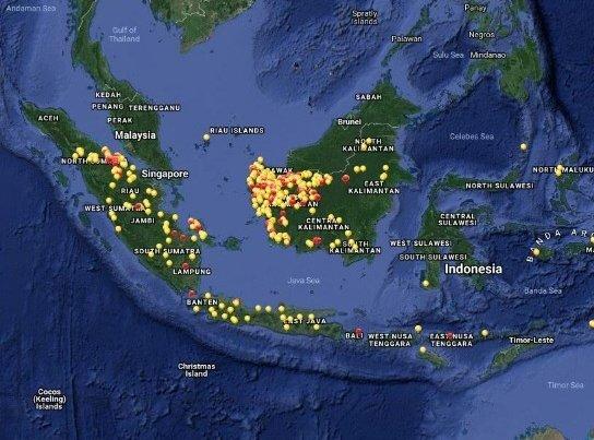 30356 medium satelit modis mendeteksi 646 hotspot di kalimantan barat %2814 agustus 2018%29