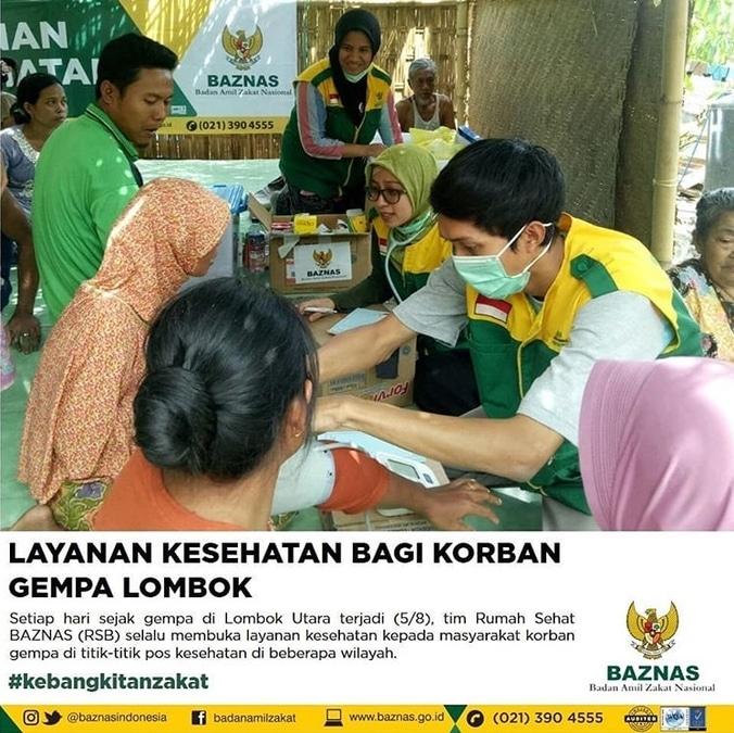 30538 medium layanan kesehatan baznas bagi korban gempa lombok