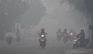 30814 small asap karhutla semakin parah di pontianak penerbangan delay 2 jam sekolah diliburkan