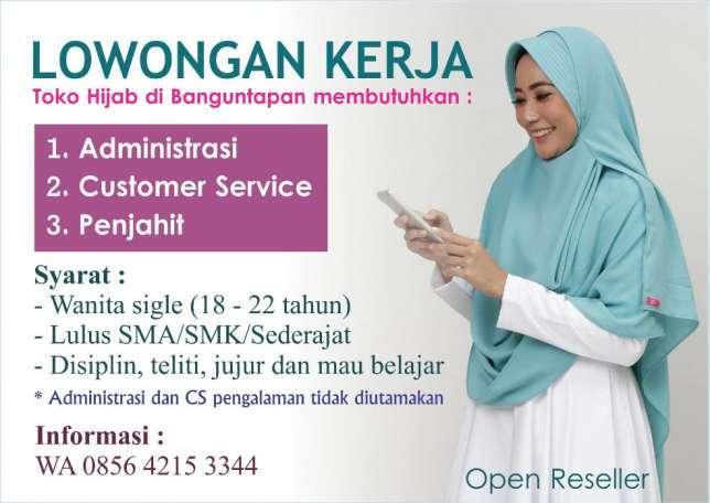 31036 medium lowongan kerja administrasi  customer service   penjahit
