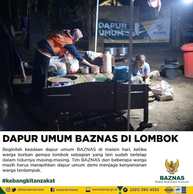 31450 medium baznas dirikan dapur umum untuk korban gempa lombok