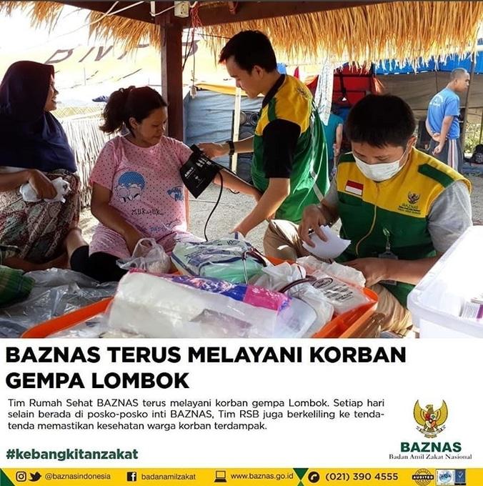 31547 medium baznas terus melayani korban gempa lombok