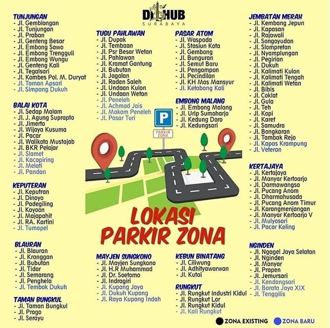 31642 medium dinas perhubungan kota surabaya tambah titik parkir zona