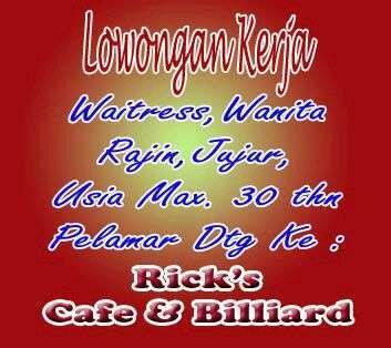 31733 medium lowongan kerja waitress untuk cafe   billiard