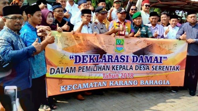 31900 medium deklarasi damai seluruh pasangan calon pilkades kec.karang bahagia