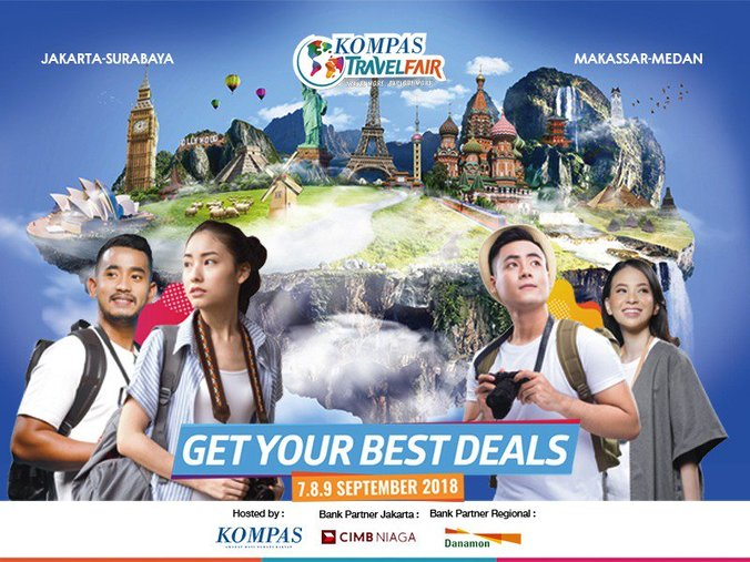 32014 medium kompas travel fair 2018 serentak di 4 kota