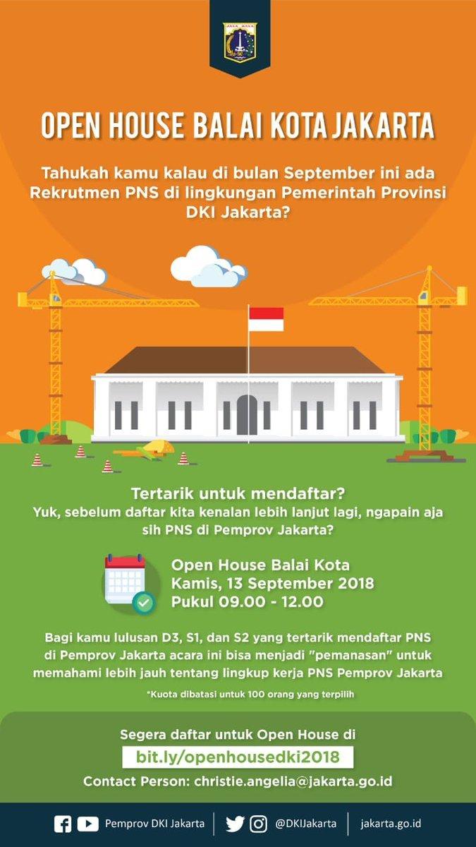 32254 medium informasi lowongan pns pemprov dki di acara open house balai kota