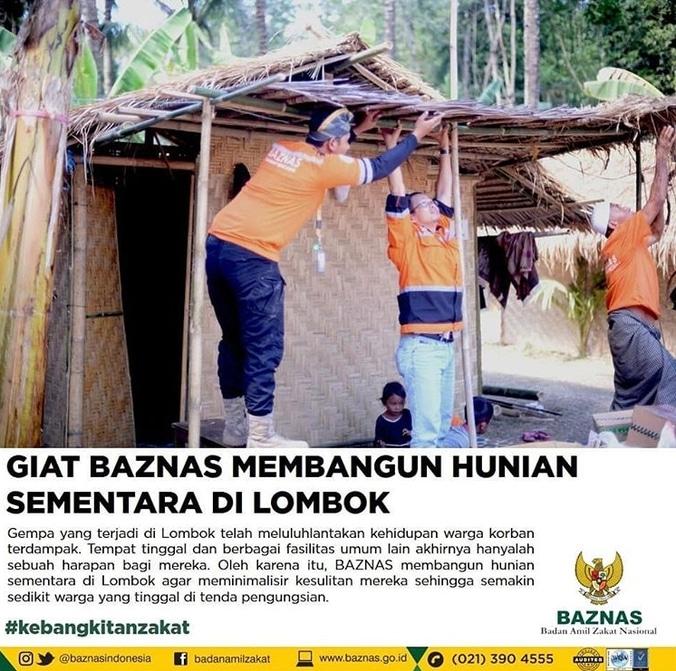 32338 medium giat baznas membangun hunian sementara di lombok