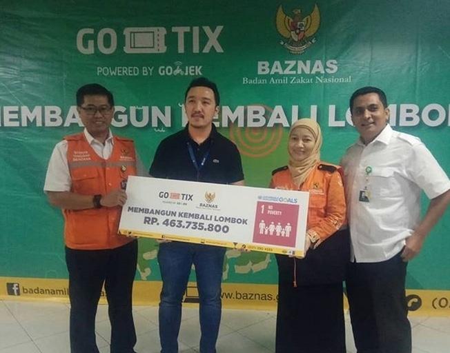 32976 medium baznas terima rp400 juta dari go tix untuk lombok