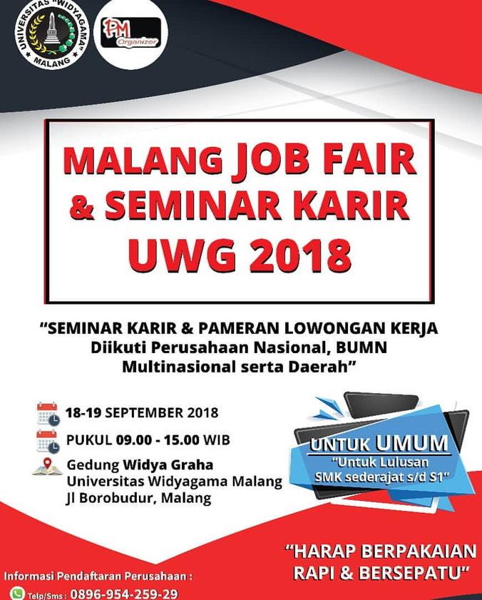 33126 medium %28bursa kerja%29 malang job fair   seminar karir uwg %e2%80%93 september 2018