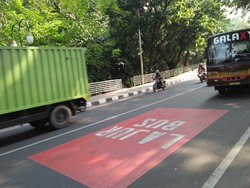 33358 small karpet merah lajur bus