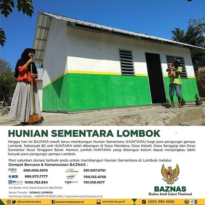33425 medium baznas bangun hunian sementara di lombok
