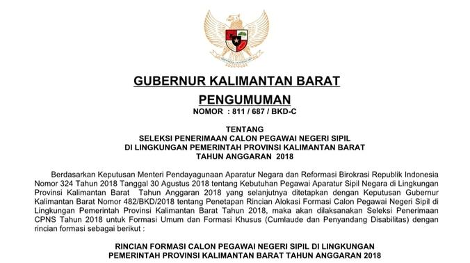 33475 medium pengumuman formasi cpns 2018 pemerintah provinsi kalimantan barat