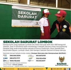 33654 small baznas dirikan 3 sekolah darurat di lombok utara