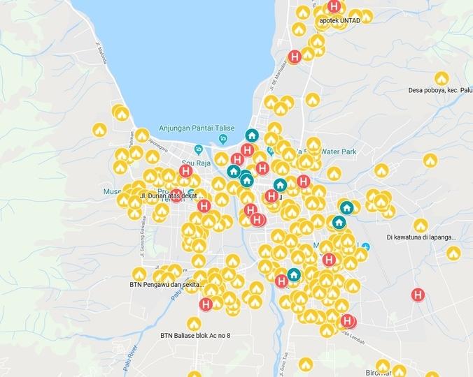 34385 medium peta persebaran titik kumpul gempa dan tsunami palu  donggala %282 oktober 2018%29