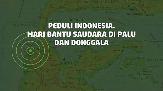 34388 medium salurkan bantuan gempa palu dan donggala melalui lembagaorganisasi berikut