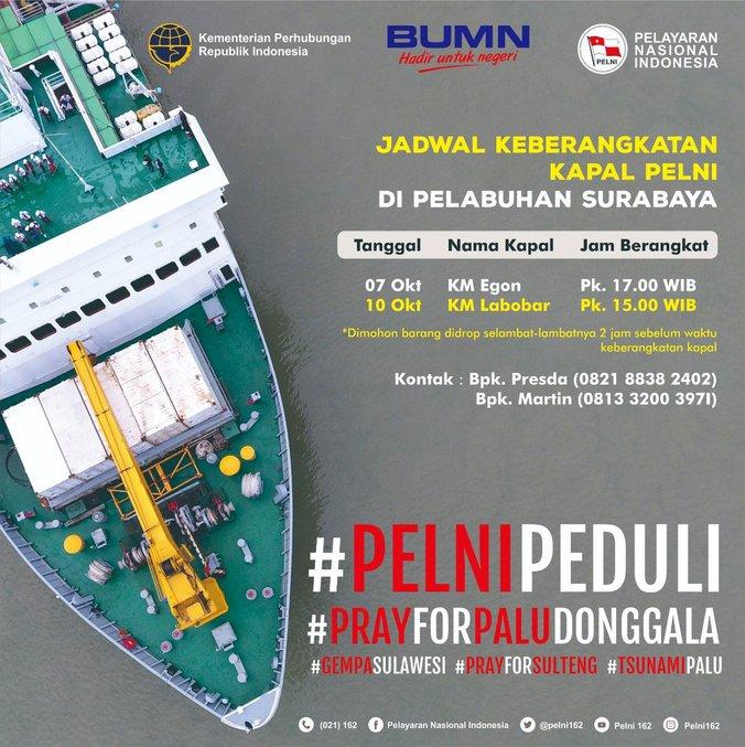 34393 medium pelni kerahkan 7 kapal untuk bantu korban gempa palu dan donggala1