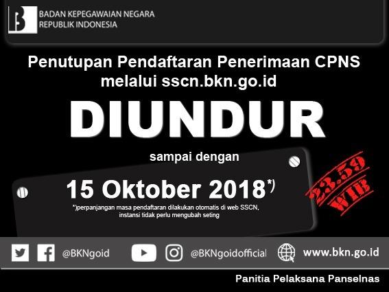 34495 medium pendaftaran diperpanjang hingga 15 oktober 2018  jumlah pelamar cpns capai 284.740 orang