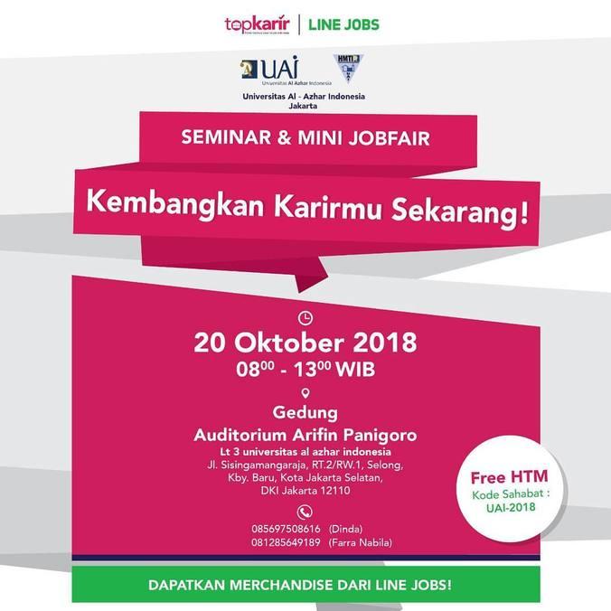 36152 medium seminar   mini jobfair universitas al azhar %e2%80%93 oktober 2018