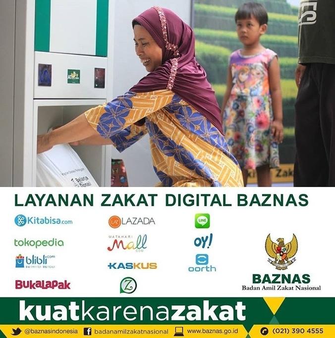37128 medium layanan zakat digital baznas kini hadir di 11 situs berikut