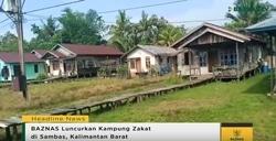 38234 small baznas luncurkan kampung zakat di sambas