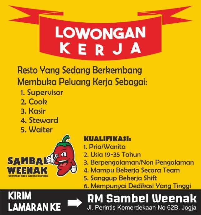 Info Loker Rumah Makan Sragen