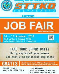 38992 small job fair sttkd yogyakarta %e2%80%93 november 2018