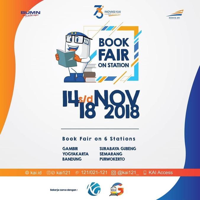 39180 medium gramedia kai book fair di 6 stasiun besar indonesia