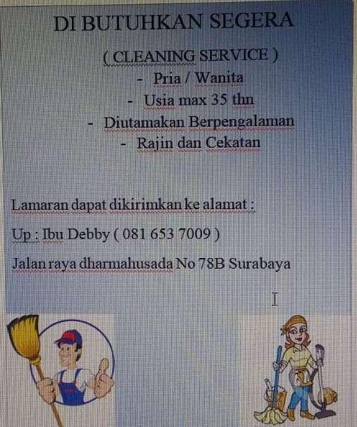 39764 medium lowongan cleaning service