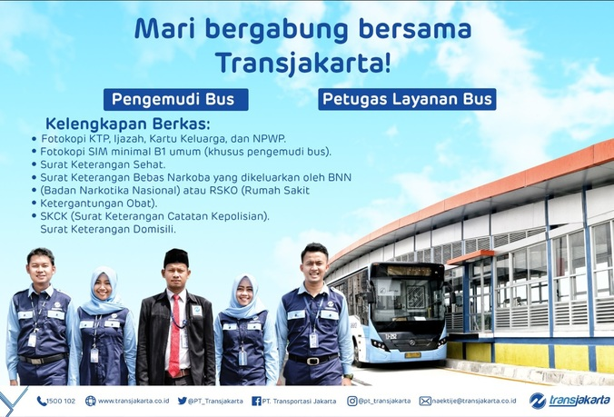 39767 medium lowongan kerja pengemudi bus transjakarta