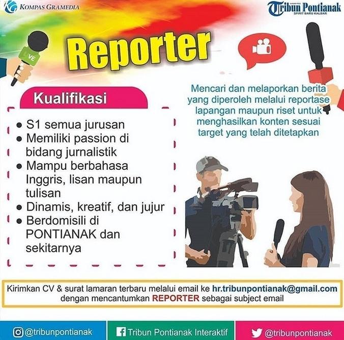 41100 medium lowongan kerja reporter di tribun pontianak   november 2018