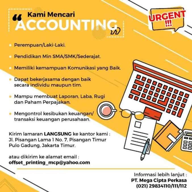 41298 medium lowongan kerja accountingkeuangan di pt. cipta mega perkasa