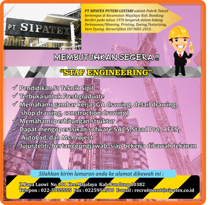 41564 medium loker engineer staf