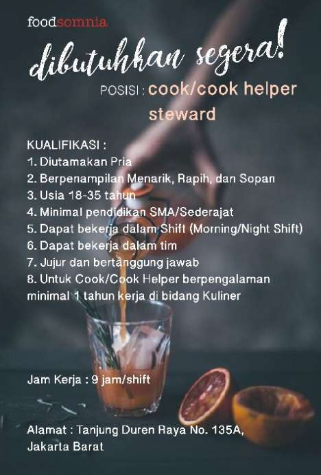 42356 medium lowongan kerja bagian dapur %28cookcook helpersteward%29 di foodsomnia