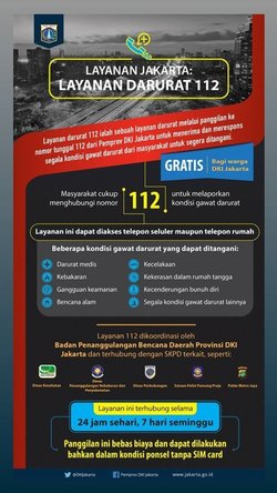 42375 small terjadi bencana atau dalam keadaan darurat hubungi layanan panggilan darurat 112  dki jakarta