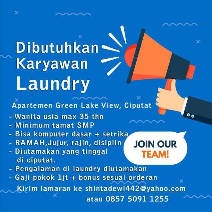 42491 medium lowongan kerja karyawan laundry di ciputat tangsel