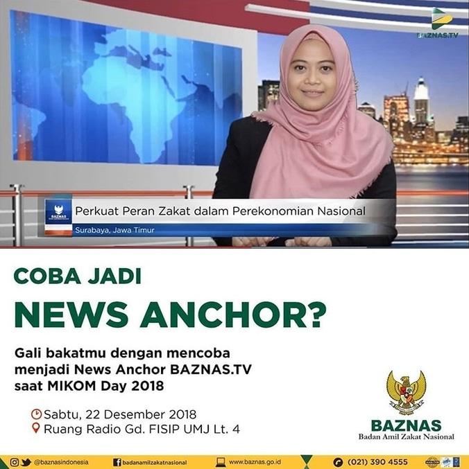 43411 medium yuk coba jadi news anchor baznas tv di mikom day 2018 umj