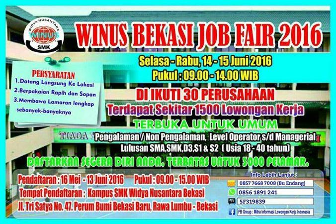 4631 medium winus bekasi job fair 2016