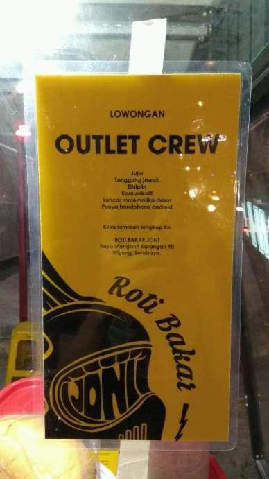 Lowongan Kerja Penjaga Crew Outlet Roti Bakar Karangan Wiyung Widya Sari Di Surabaya 17 Jan 2019 Loker Atmago Warga Bantu Warga