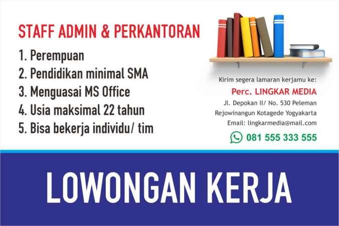 46774 medium lowongan kerja staf admin   perkantoran